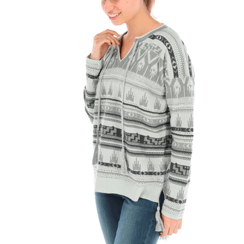 Sweater con Lino Mujer Clavel