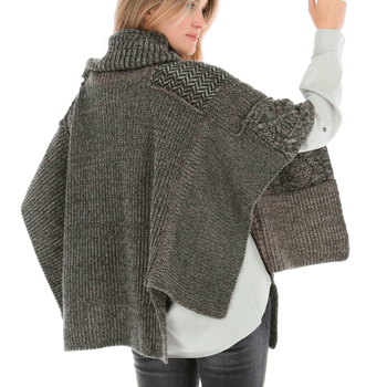 Poncho con Lana Mujer Quilt