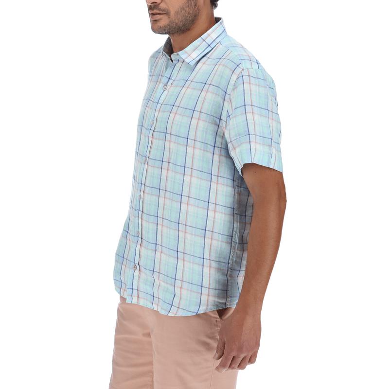 Camisa-Hombre-Linen-Plaid