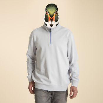 Polerón de Algodón Orgánico Hombre Bicolor