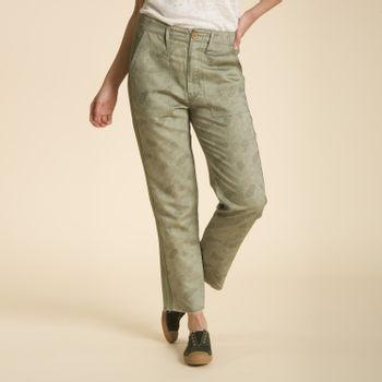 Pantalón de Algodón y Lino Orgánico Mujer Martina