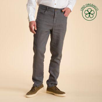 Pantalón de Lino Orgánico Hombre Fivelinen