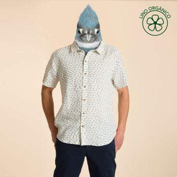 Camisa Manga Corta de Lino Orgánico Hombre Nature