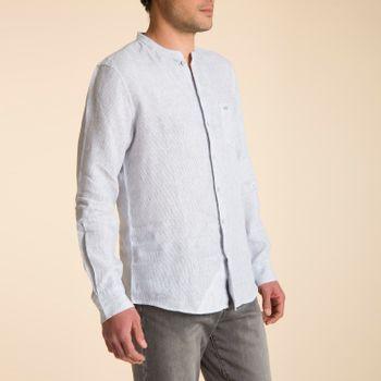 Camisa de Lino Orgánico Hombre Stripemao
