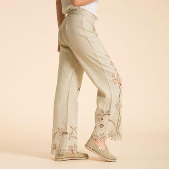 Pantalón de Lino Orgánico Mujer Ariana