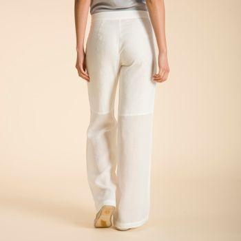 Pantalón de Lino Orgánico Mujer Canela