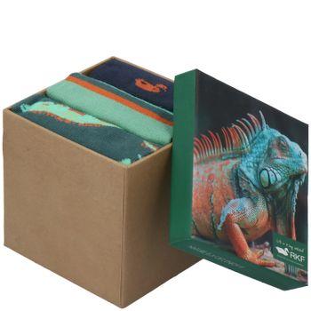 Calcetín Bambú Hombre Pack 3 Pares Reptile Multicolor