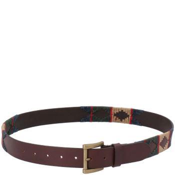 Cinturón Cuero Hombre Rmg Azteca Multicolor
